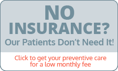 square reads No Insurance? Our Patients Don't Need it